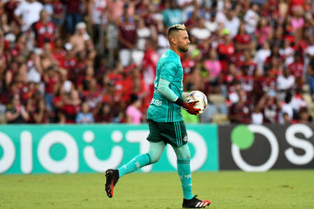 Rio, Brazil - february 08, 2020: Diego Alves in match between Flamengo and Madureira by the Carioca Championship in Maracana Stadium Redactioneel
