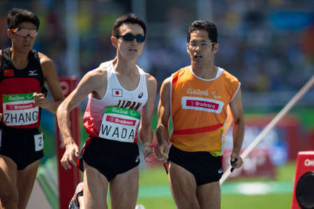 Rio, Brazil - september 11, 2016: WADA Shinya (JPN), during men's 1500m T11, round 1 heat 2, in the Rio 2016 Paralympics Games.