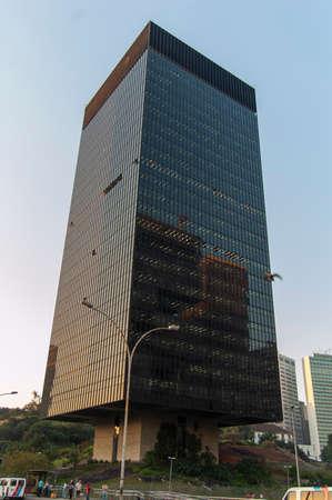 Rio de Janeiro, RJ, Brazil - june 21, 2006: facade the building of the headquarters of the Central Bank of Brazil in the central region of the city