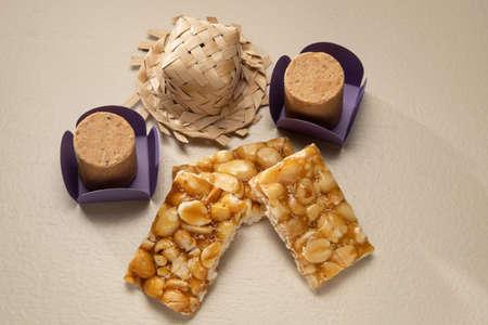 Boy Foot (Pe de Moleque) and Pacoca typical peanut jam at June party (festa junina) in Brazil