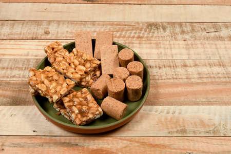Pe de moleque and pacoca, typical Brazilian peanut sweets eaten at the June parties (Festa Junina) Reklamní fotografie