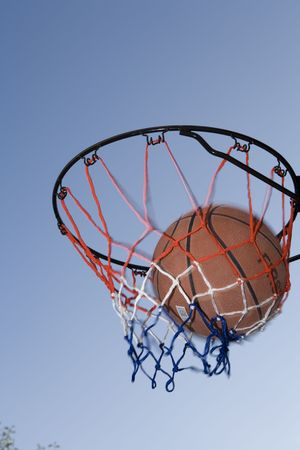 sucess: basketball hoop Stock Photo