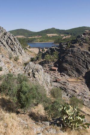 garcia: Penha Garcia village in Portugal Stock Photo
