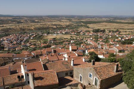 baixa: Penha Garcia village in Portugal Stock Photo