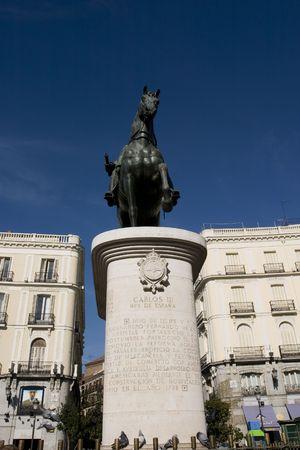 carlos: Carlos III statue in Madrid, Spain Stock Photo