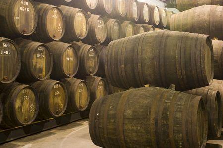 porto: wine cellar In Porto, Portugal Stock Photo