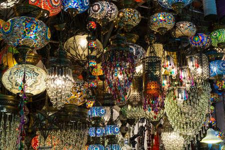 bazaar: chandeliers in the Grand Bazaar Stock Photo