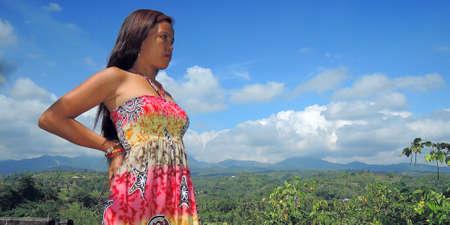 mountain peek: Filipina at Sibulan Peeks