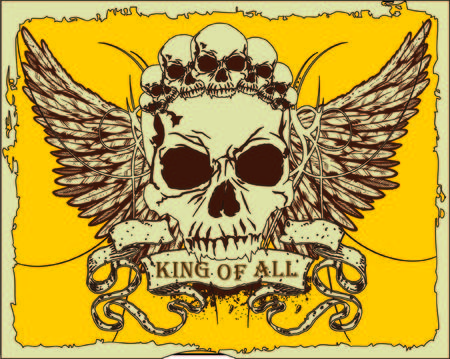 skull and crown: vector design