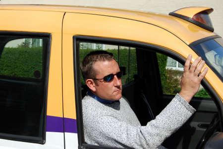 Cab driver Stock Photo