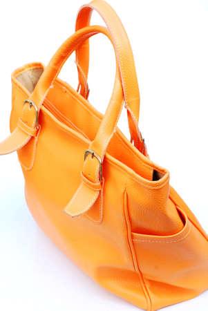 holdall: orange bag