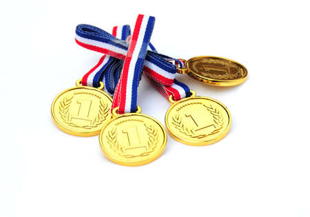 gold medals Standard-Bild