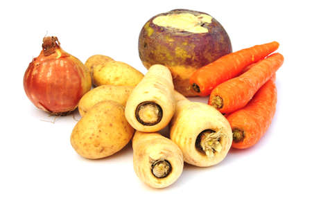 winter vegetables for a stew