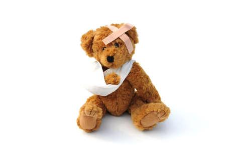 poorly: Poorly teddy bear