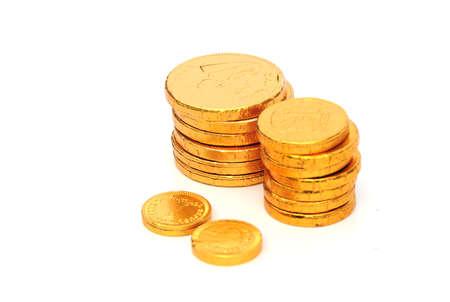 midas: gold coins Stock Photo
