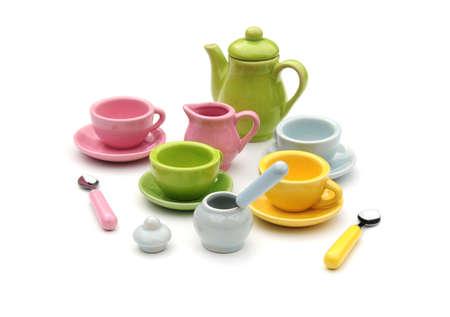 teaset: tea set Stock Photo
