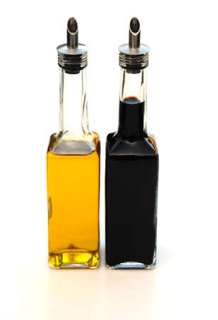 balsamic: olive oil and balsamic vinegar Stock Photo