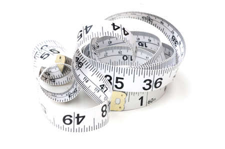 millimetres: tape measure Stock Photo