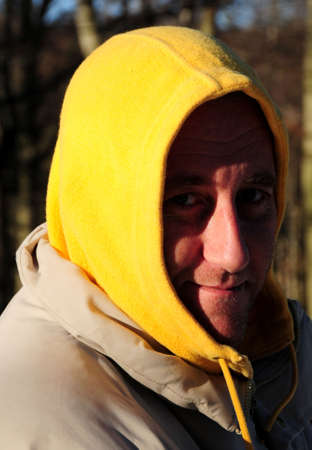 hooded top: Man with hooded top Stock Photo