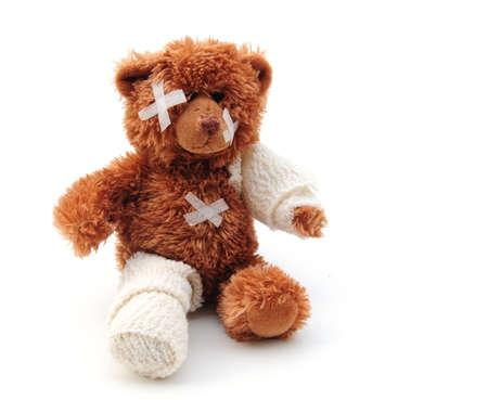 bear with bandages