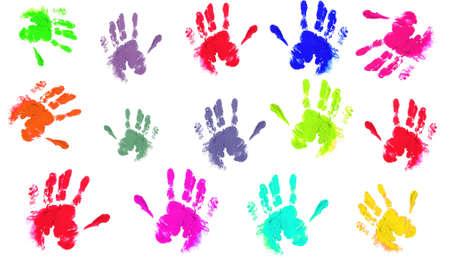 handprints: Coloured handprints