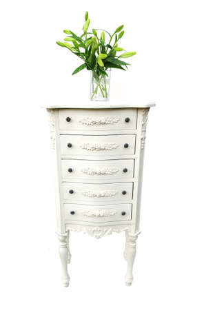 drawers: drawers and flowers Stock Photo