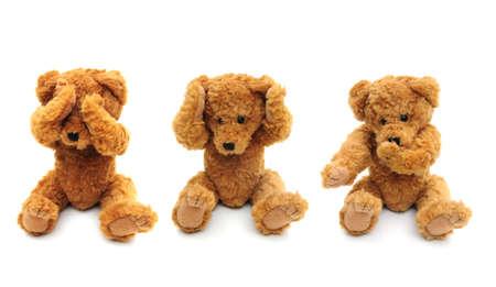 Three wise bears Stock Photo