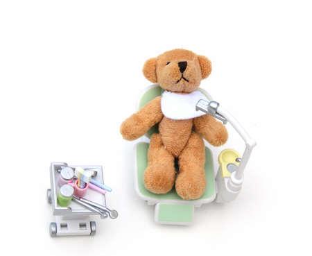 Bear at the dentist photo