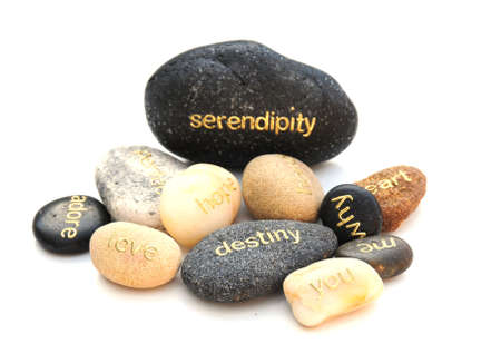 words on stones