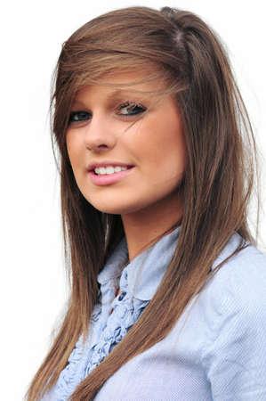 hairband: pretty teen Stock Photo