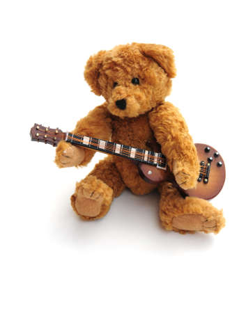 Bear with guitar Stock Photo