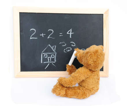 Bear and blackboard photo