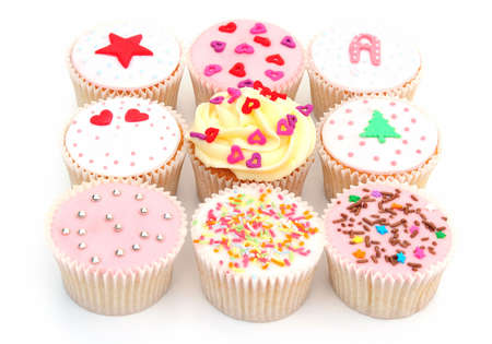 cupcake assortment Stock Photo