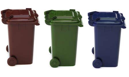 wheelie bins Standard-Bild