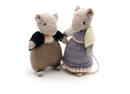 knitted mice Standard-Bild