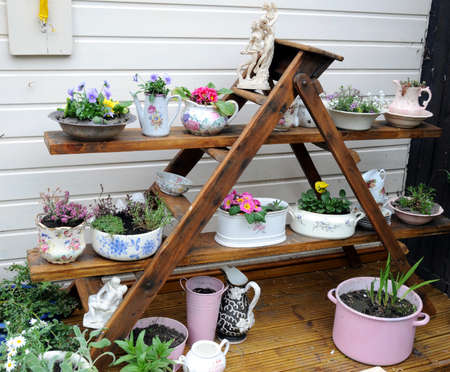 planter: decorative garden display