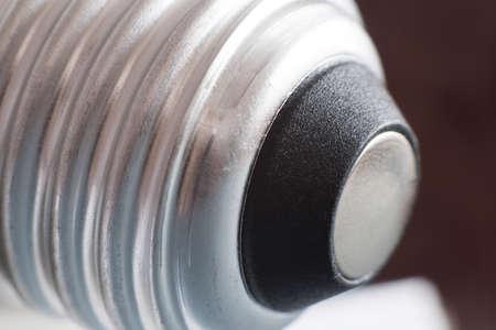 energy saving led bulb E27 closeup isolated on white background