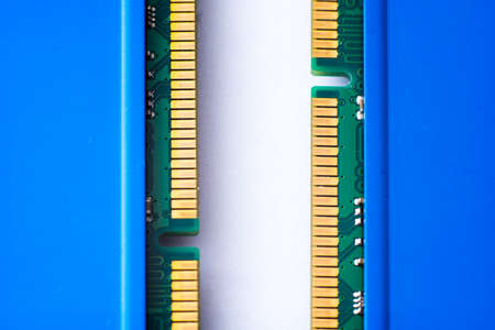Details from the computer. RAM.