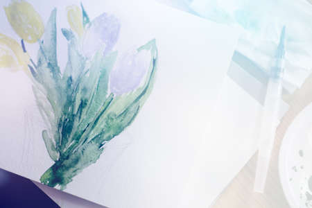 photo of colorful drawing: beautiful flower