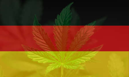 Medical Use of Cannabis in Germany. The decriminalization of marijuana in Germany. Cannabis Legalization Procedure in the Germany. Stock Photo