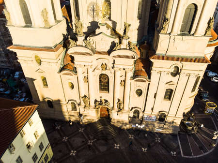 Prague Old Town Square Czech Republic Church of Our Lady Before Tyn
