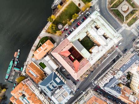 Vltava river Architecture of the ancient European city of Prague Stock Photo