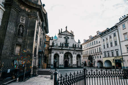 View of Prague. Detail of the Prague in the Old Town. Czech Republic. 免版税图像