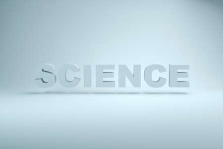 The word Science, white background, Education research. Text concept.