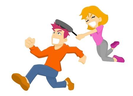 hit man: Girl Hit Man using Frying Pan