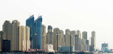Edificios de oficinas y rascacielos en Dubai, Emiratos Árabes Unidos. Dubai fue la ciudad de más rápido desarrollo del mundo.