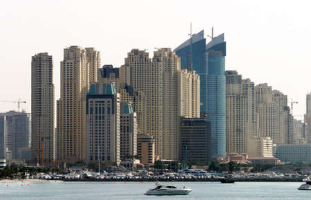 Office buildings and skyscrapers in Dubai, United Arab Emirates. Dubai was the fastest developing city in the world.