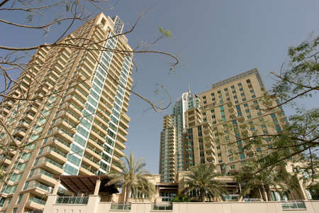Residential buildings at Dubai in United Arab Emirates. Dubai was the fastest developing city in the world. Imagens