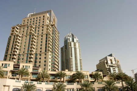 Residential buildings at Dubai in United Arab Emirates. Dubai was the fastest developing city in the world. Stock fotó