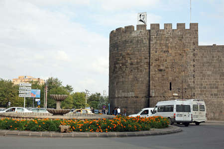 DIYARBAKIR, TURKEY - SEPTEMBER 28: Diyarbakir Castle in the city square on September 28, 2009 in Diyarbakir, Turkey. Sajtókép